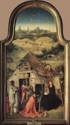 L'Epiphanie (panneau central), Jérôme Bosh, 1495, musée du Prado à Madrid.