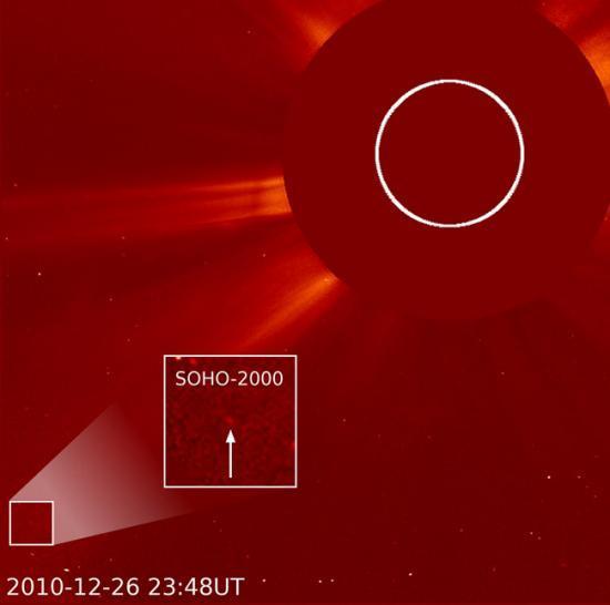 Cliché obtenu à l'aide du satellite SOHO