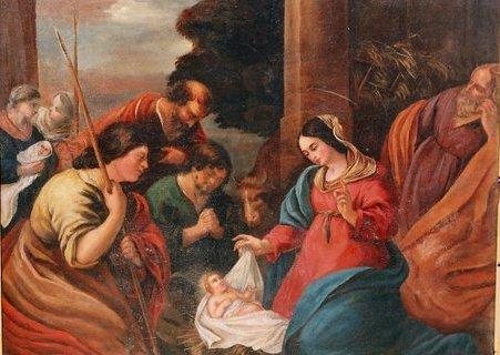 Tableau de la Nativité à Saint Eugène dans l'Aisne