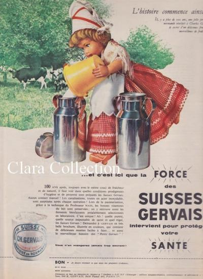 Publicité Gervais de 1960