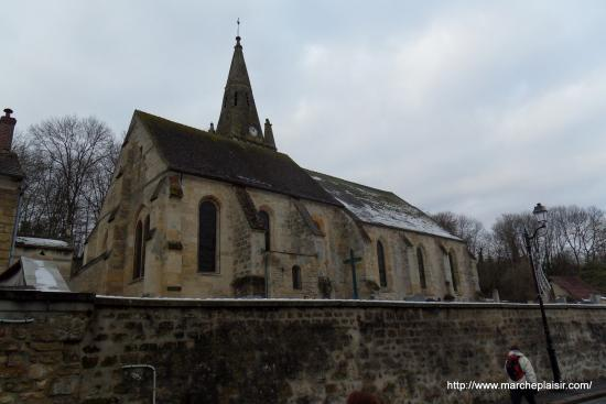 Eglise St Lucien à Courcelles sur Viosne