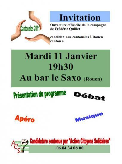 Soirée le 11 janvier au Saxo pour présenter les candidats ACS