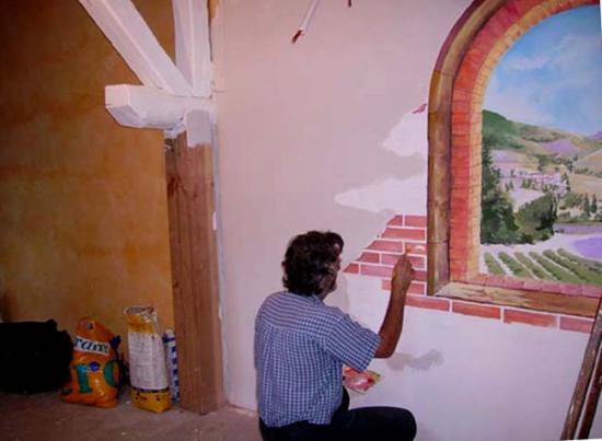 Peinture murale for Dessin peinture mur