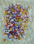 Composition bleue et jaune - 1992