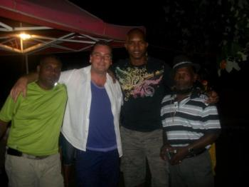Marcel, Yves, Vincent et moi pour fêter la nouvelle année