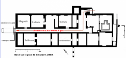 Plan du sous-sol du château