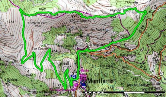 Castell de Montferrer - Carte