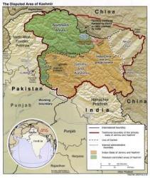 carte du Jammu et Cachemire
