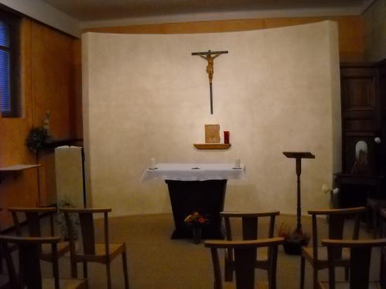 Chapelle Mère Thérésa où est- célébrée la messe en semaine