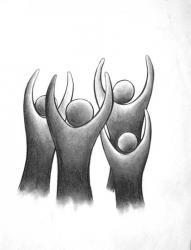 dessin stylisé au fusain