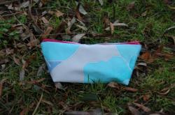 Trousse Turquoise zipée