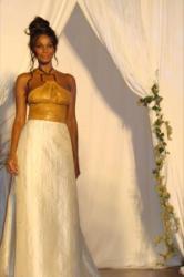 robe créée par Sandra Brunel piur l'Atelier d'Eva