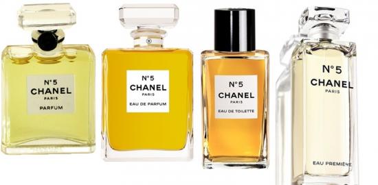 5 parfums composition