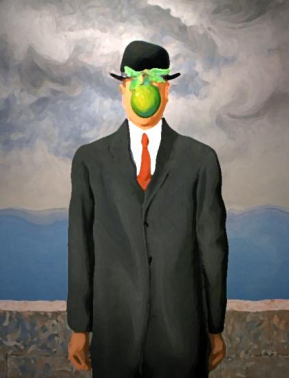 """""""Le fils de l'homme"""" d'après Magritte"""