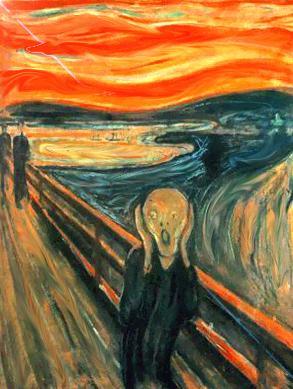 """""""Cri silencieux"""" d'après Munch"""