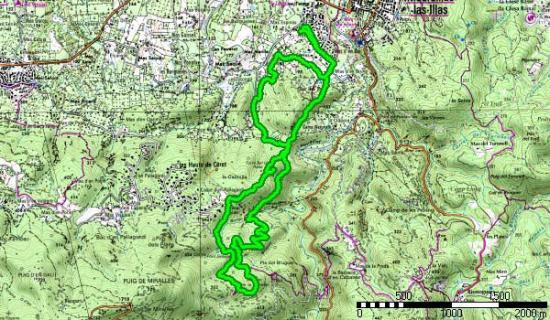 Tour Bel Oeil - Dolmen de la Siureda - Carte