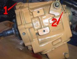 prise de pression AV (1) et AR (2)