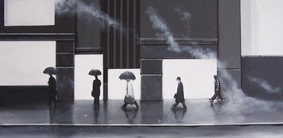 Urban Metz - Umbrella Street (120x60cm)