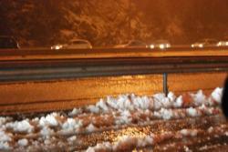 neige sur l'autoroute dans le var