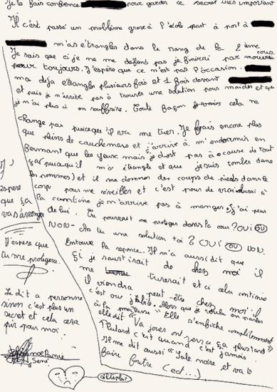 Lettre de Noélanie
