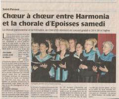 Mai 2009 - Chorale d'Epoisses à Saint Pavace