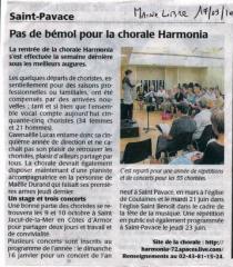 Rentrée 2010 - Pas de bémol pour la chorale HARMONIA