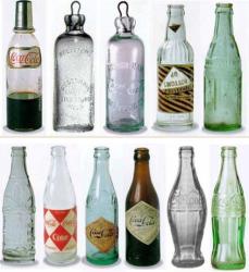 L'évolution de la bouteille Coca-Cola.