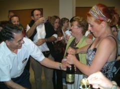 Valladolid (ES) - Après le concert : Champagne !