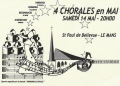 Bellevue (Le Mans) - 4 chorales en mai