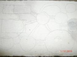 Projection des gallerie avec un crayon