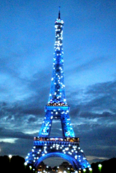 the sparkling Eiffel tour