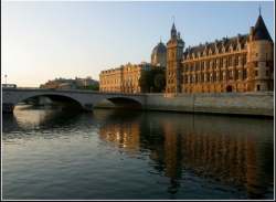 the riverside of the Seine, Conciergerie, Paris