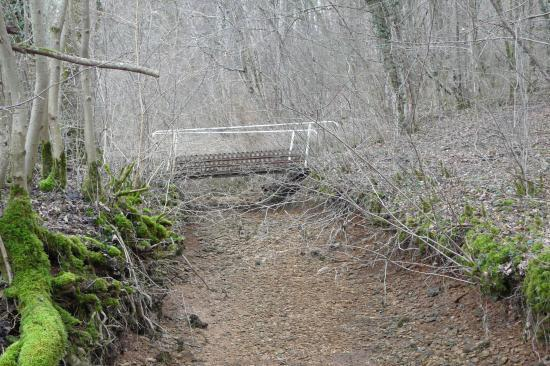 Pont sur le chahalot à sec
