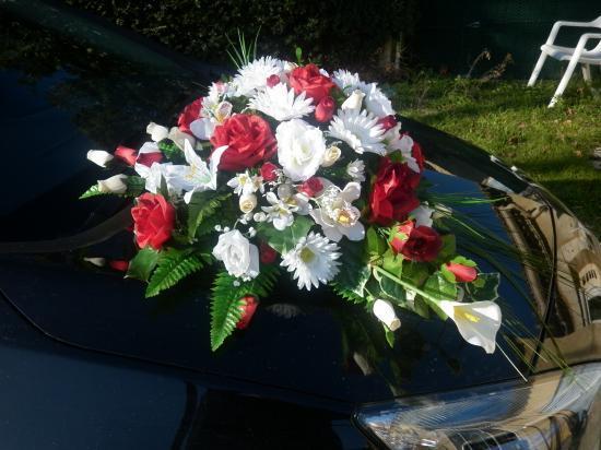 D coration de voiture pour le mariage bouquet fleur bouquet florale bouquet - Decoration voiture mariage ventouse ...