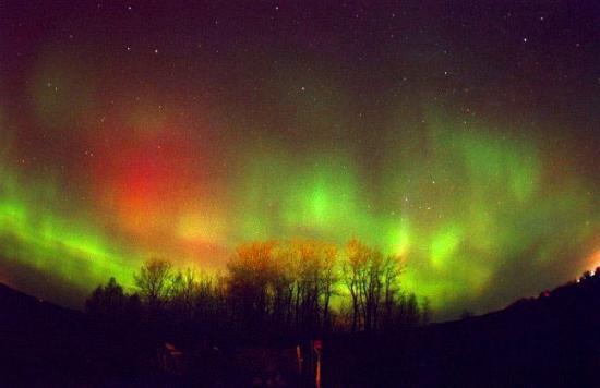 aurore verte & rouge