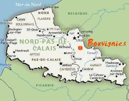 Carte bouvignies NPdC