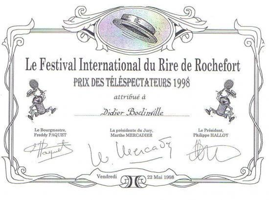 Prix des téléspectateurs à Rochefort