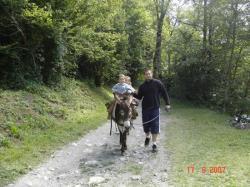 Balade à Venosc avec un âne