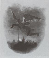 Eugène Delacroix (1798-1863), Méphistophélès dans les airs, Musée du Louvre