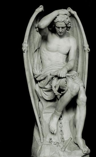 Guillaume Geefs (1805-1883), Le Génie du Mal, Musées Royaux des Beaux-Arts de Belgique