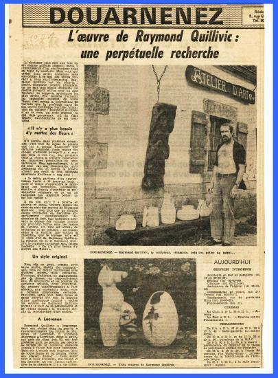 (Coupure de presse du Télégramme en 1974)