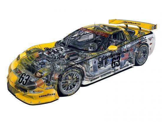 Corvette en 3D
