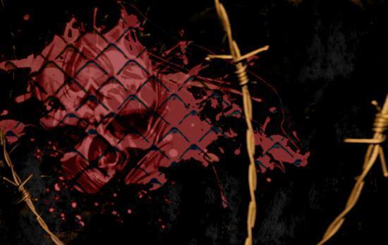 Bloody Skull - Huile sur toile - Format 60 cm x 50 cm - Année 2011
