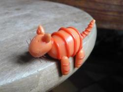 chat orange en porcelaine froide
