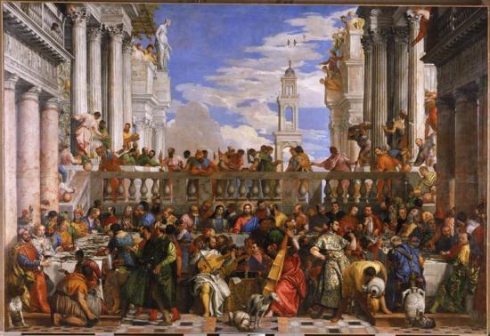 Les noces de Cana, par Véronèse vers 1563