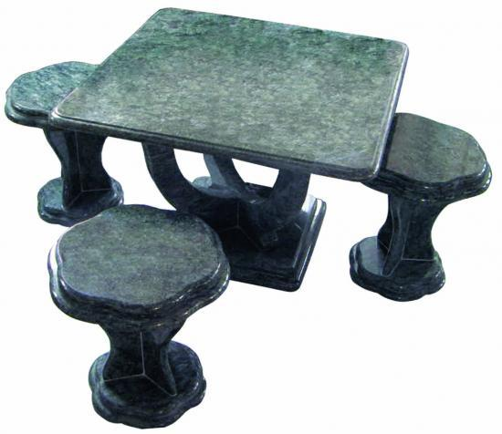 table en granit salon de jardin en granit. Black Bedroom Furniture Sets. Home Design Ideas