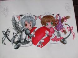 acrylic manga in progress