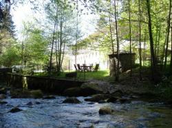"""vue de la maison depuis le ruisseau""""trifoulou"""""""