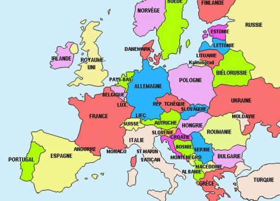 Carte Monde Europe L'europe la Carte de L'europe