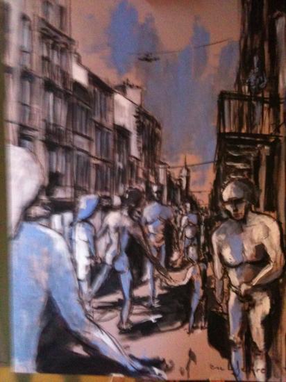 Rue Poprte-Dijeau 2. Bordeaux.2011. Format 60 x 80.